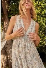 Promesa Front Button Floral Print Maxi Dress