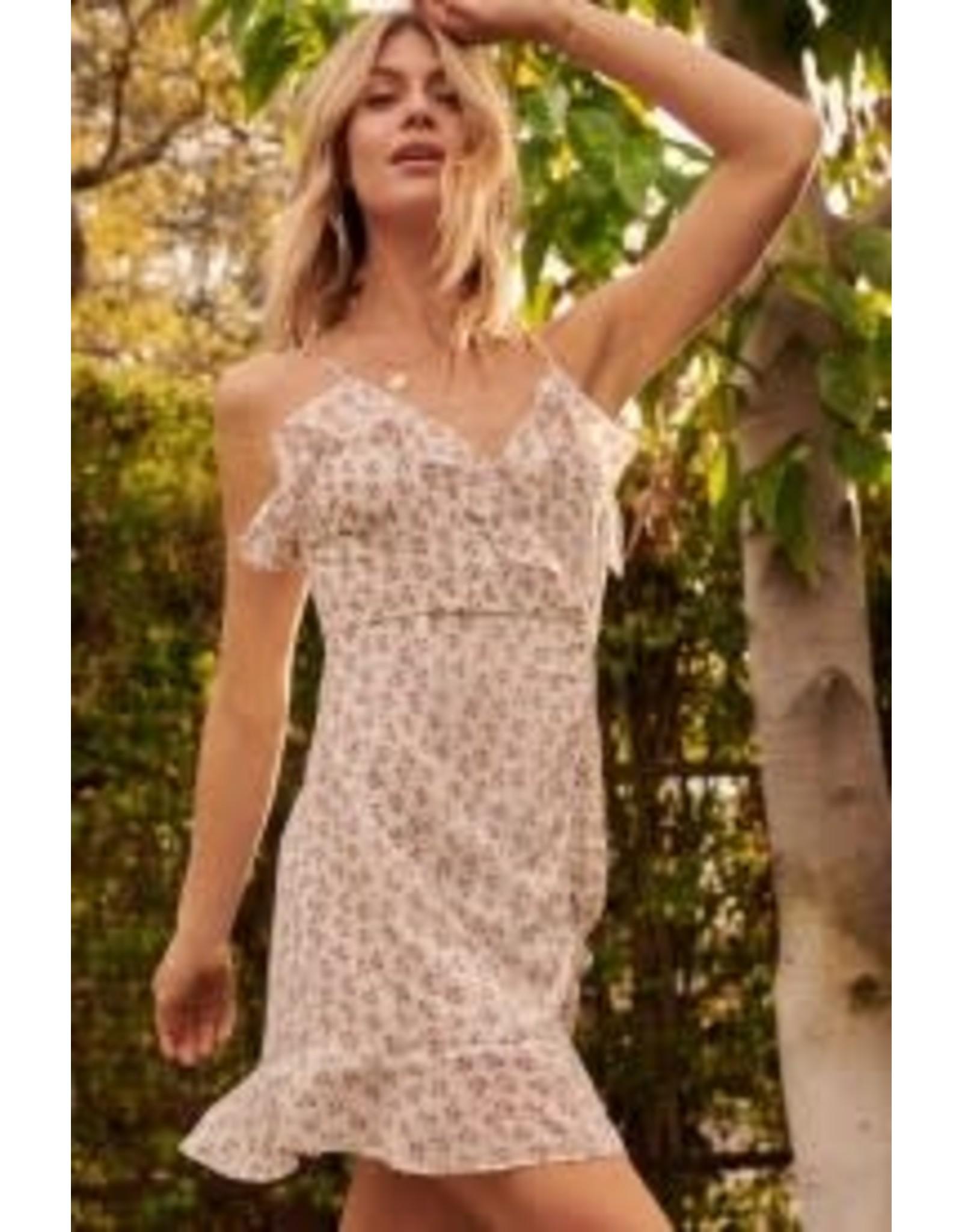 Promesa Floral Chiffon Mini Dress