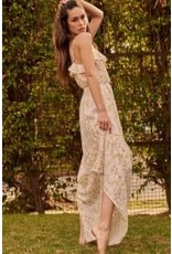 Promesa Floral Print Maxi with Keyhole Front Tie
