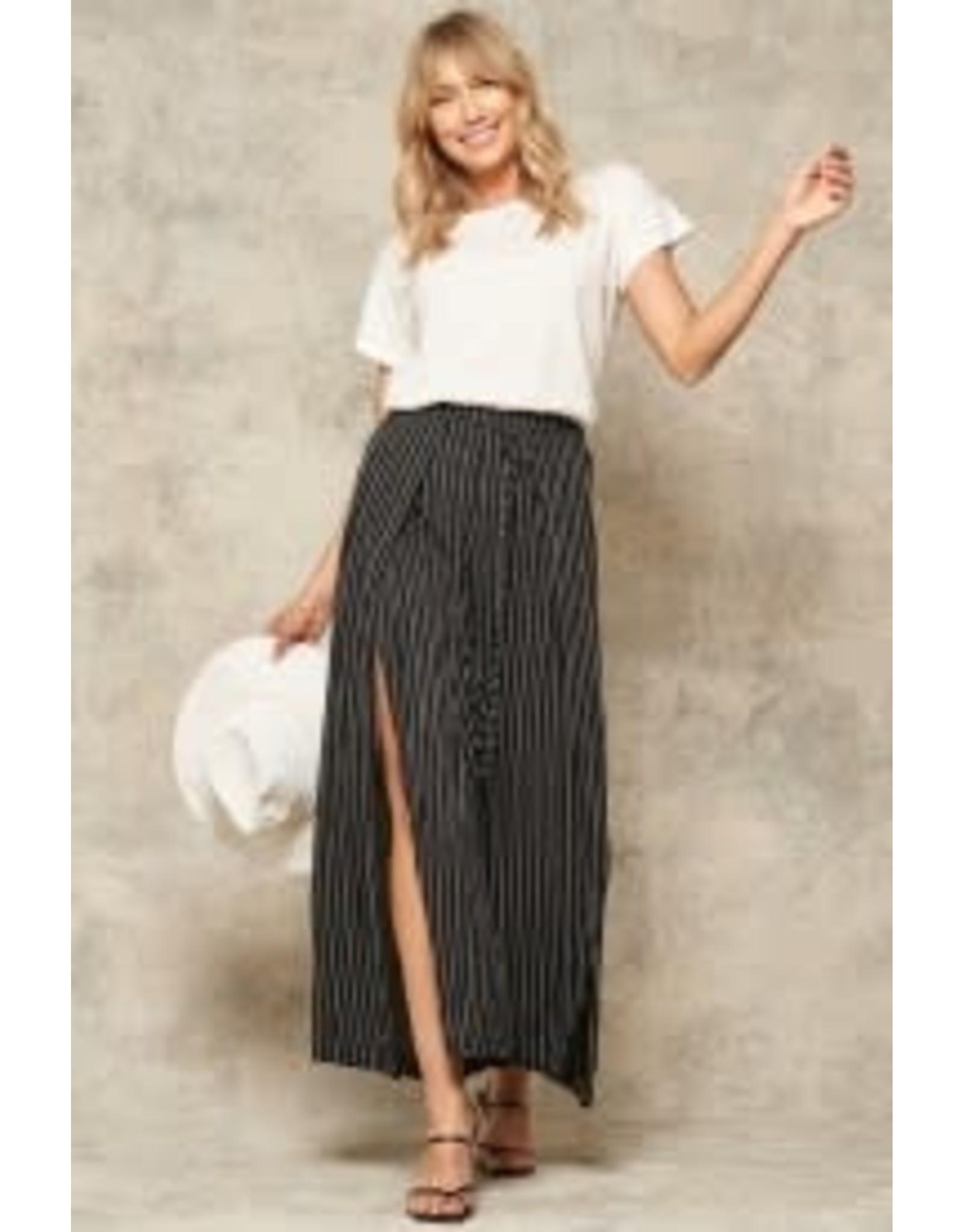 Promesa Stripe Wide Leg Wrap Pant