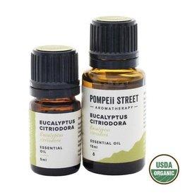 Pompeii Organic Eucalyptus (Citriodora) Essential Oil 15ml
