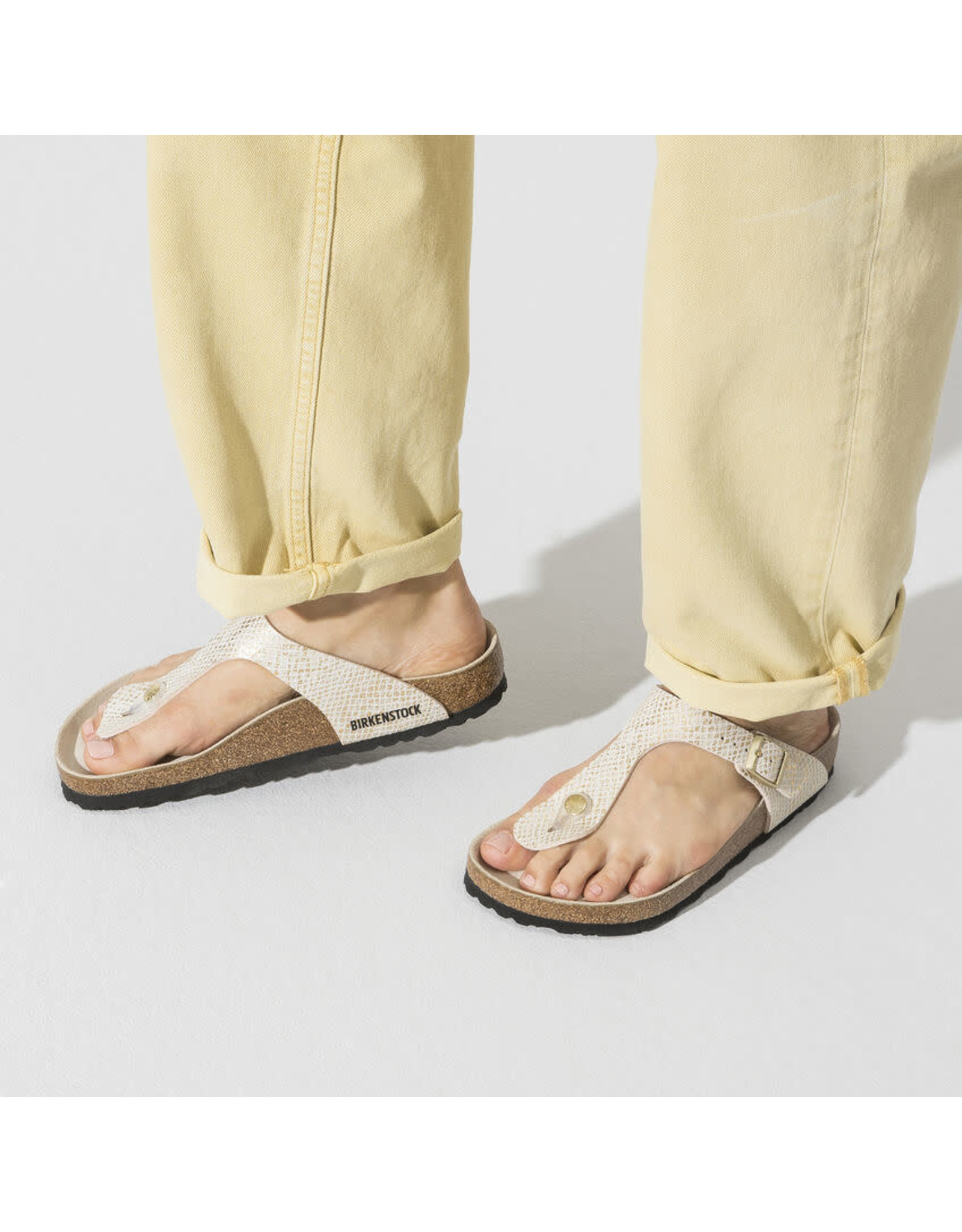 Birkenstock Gizeh Shiny Python Microfiber Sandal