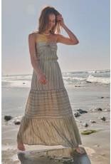 Promesa Stripe Woven Maxi Dress
