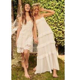 Promesa Crepe Maxi Dress with Sweetheart Neckline