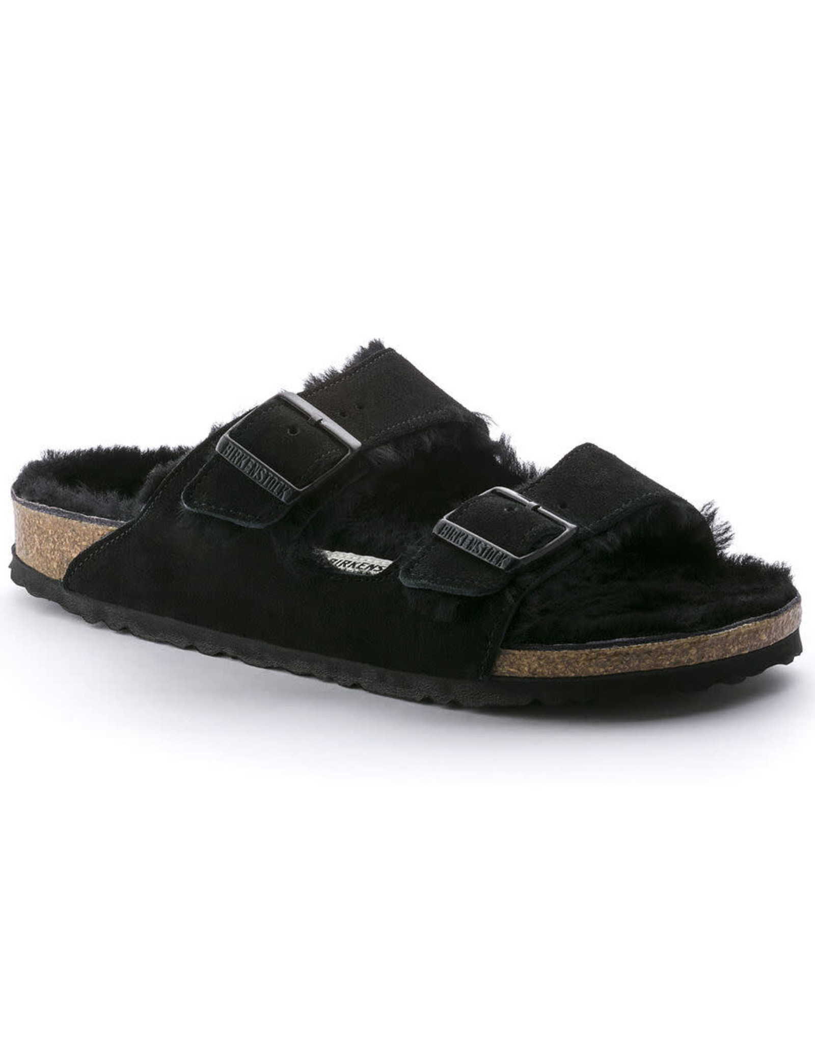 Birkenstock Arizona Suede Shearling Fur Sandal