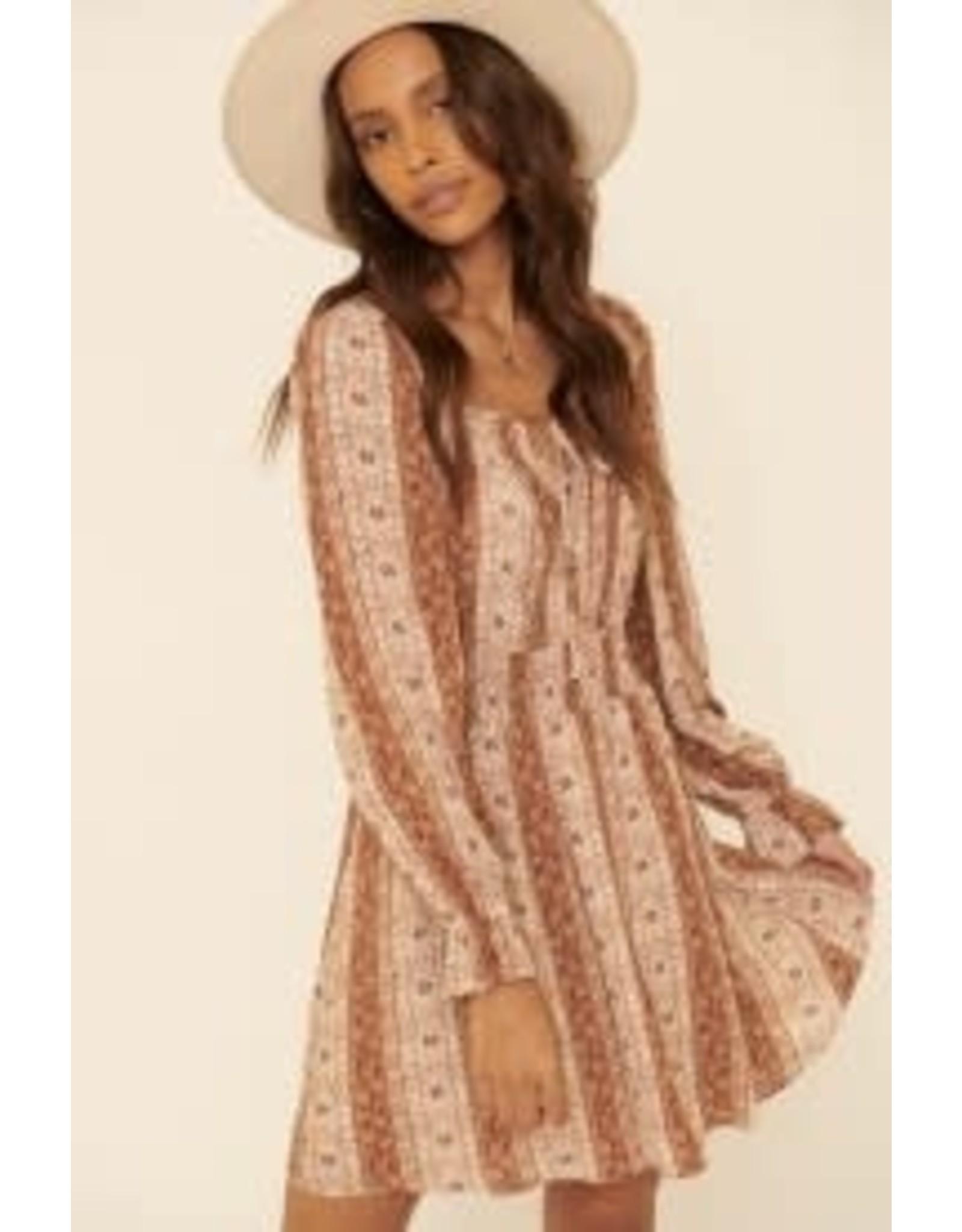 Promesa Floral Print Mini Dress