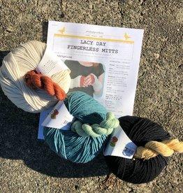 Baaad Anna's Yarn Store PluckyPigeon Lacy Day Fingerless Mitts Kit