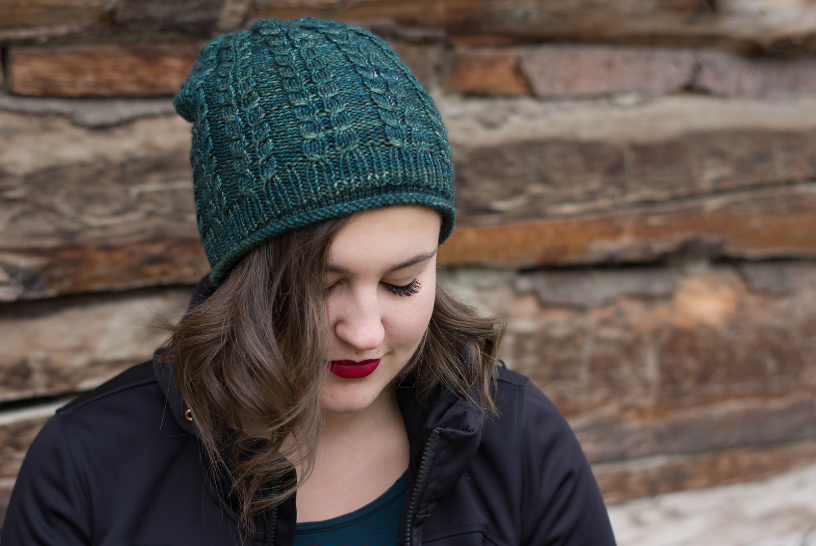 Knox Mountain Pattern Heartnut Hat