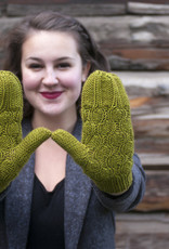 Knox Mountain Pattern Chestnut Mittens