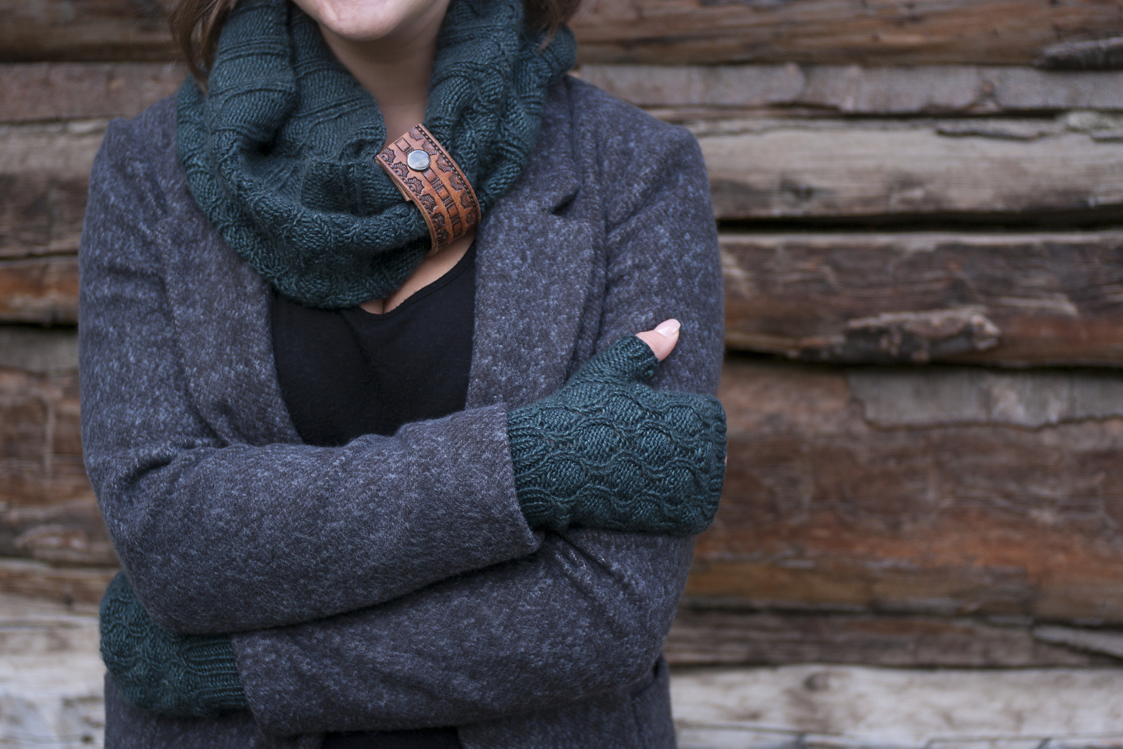 Knox Mountain Knit Co. Knox Mountain Pattern Chestnut Cowl