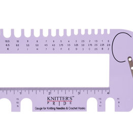 Knitter's Pride Needle and Crochet Gauge Lilac