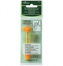 Clover Darning Needle Set - Bent/Orange
