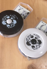 Black and Cream Floral Tape Measure w/Magnet