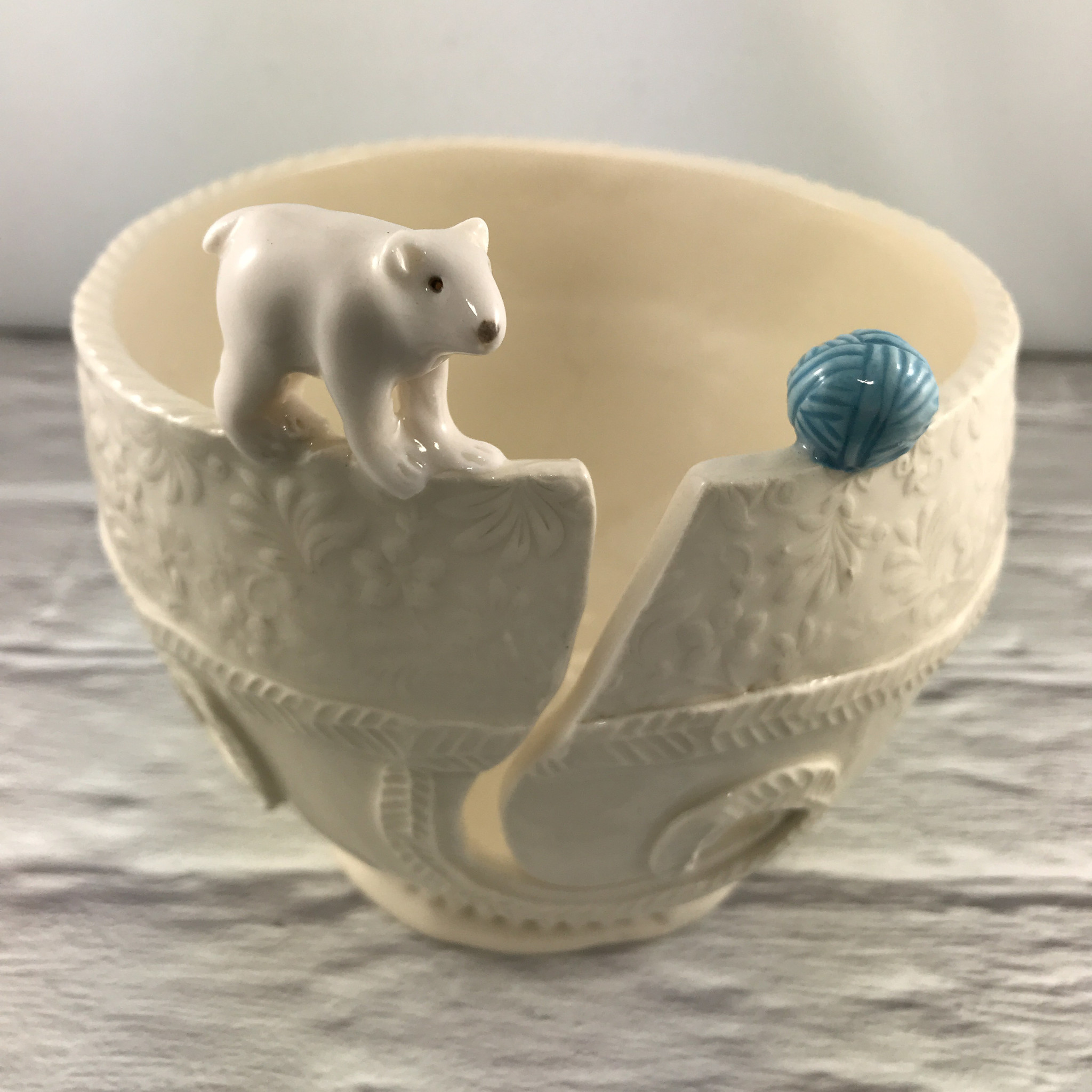 Talking Clay Yarn Bowl: Medium