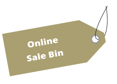 Sale Bin 50% or more!