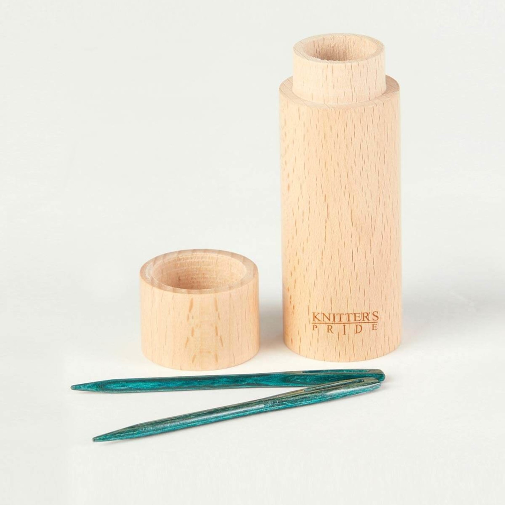 Knitter's Pride Mindful Collection Teal Wooden Darning Needles