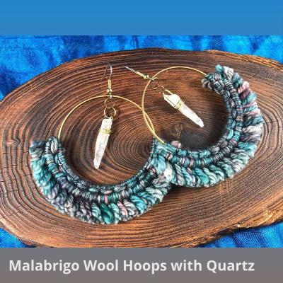 White Raven Craft Earrings