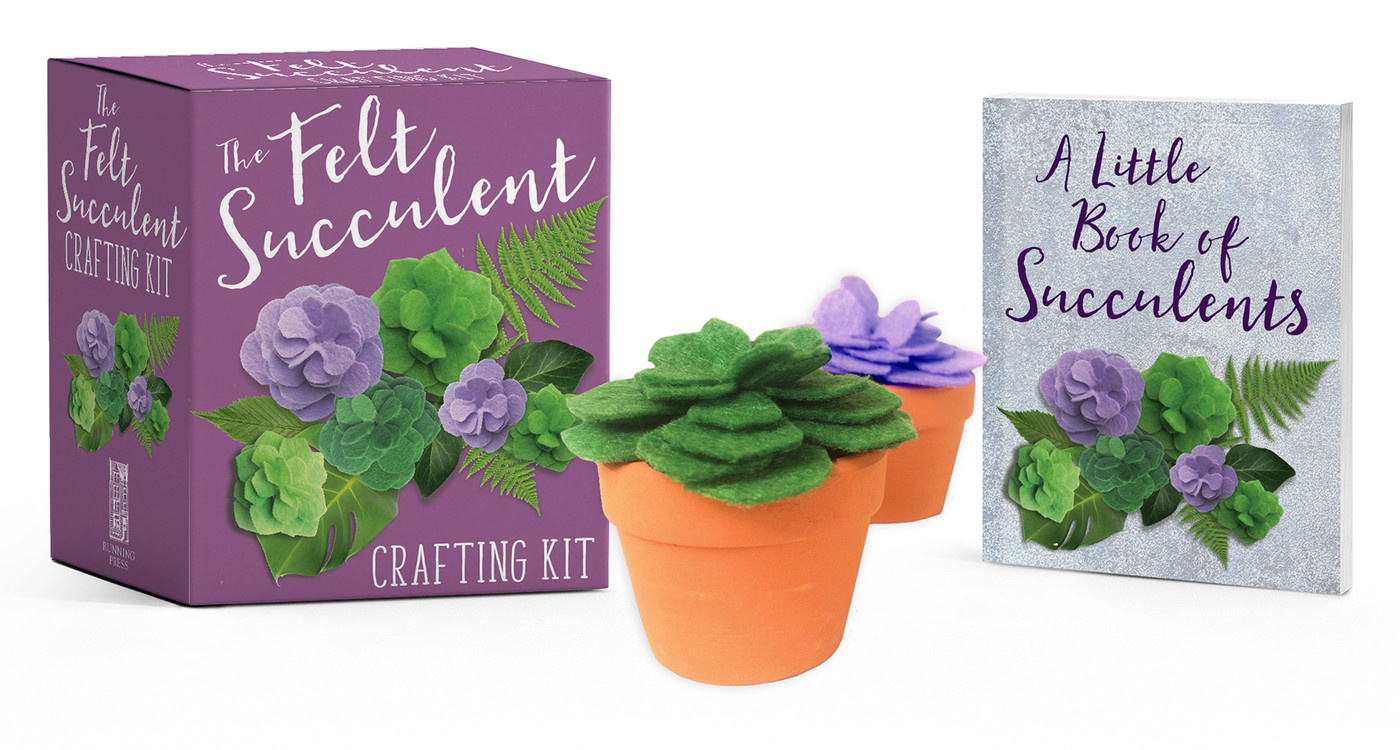 Running Press Felt Succulent Crafting Kit