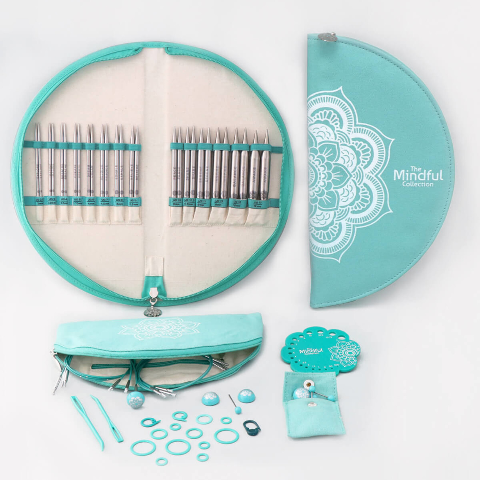 """Knitter's Pride Mindful Collection Gratitude IC 5"""" Needle Set"""