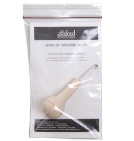 Wooden threading hook, Laquered