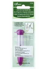 Clover Darning Needle Set: Lace/Purple