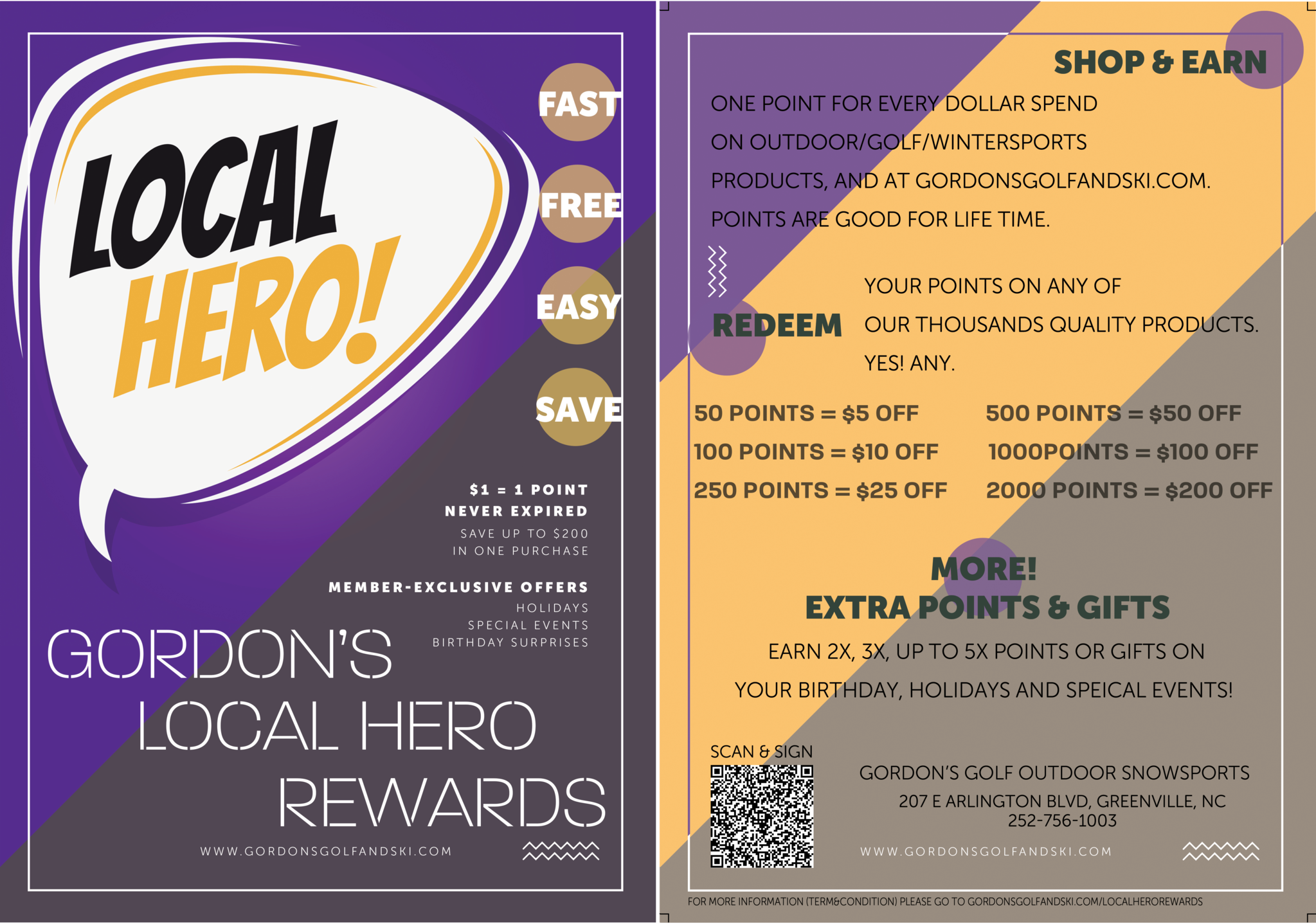 Gordons local hero rewards poster