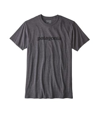 Patagonia Text Logo Cotton/Poly T-Shirt