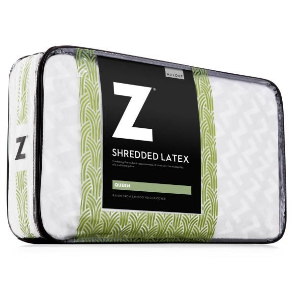 Malouf Z SHREDDED LATEX PILLOW With bamboo cover