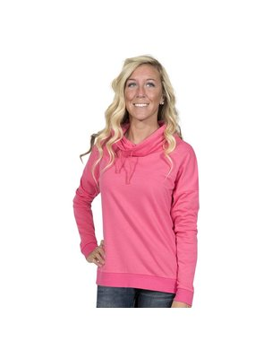 Pink Cowl Neck Pull Over
