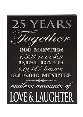 ***25th Anniversary Wood Sign