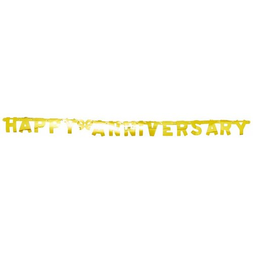"""Gold """"Happy Anniversary"""" Jointed Banner"""