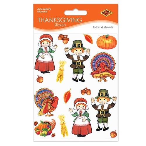 ***Pilgrim & Turkey Stickers 4 sheets