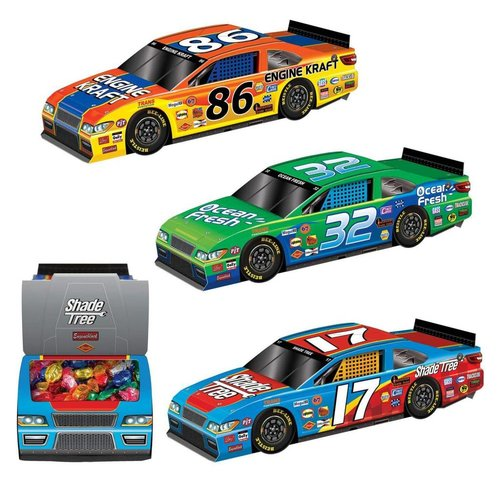 Race Car 3D Centerpieces 3ct