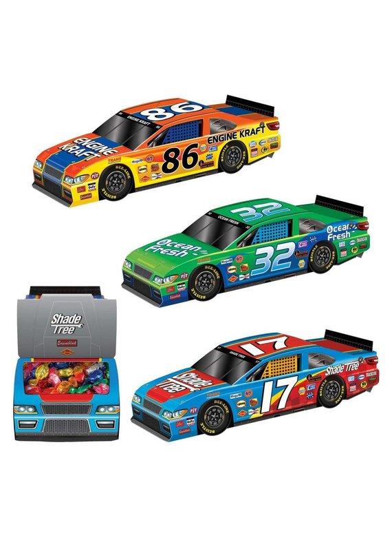 ****Race Car 3D Centerpieces 3ct