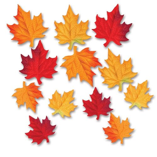 ***Deluxe Fabric Fall Leaves 12ct