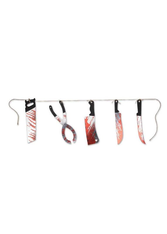 *****Bloody Knives String Banner 6ft