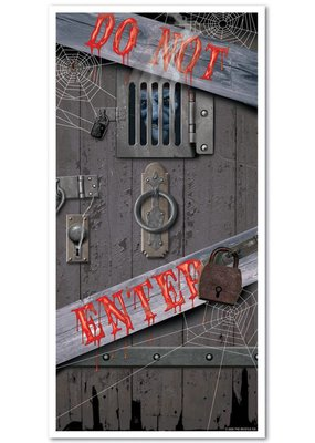 ***Bloody Do Not Enter Door Cover