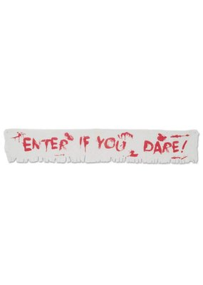 ***Enter if You Dare! 6ft Fabric Banner