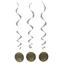 ***Racing Tire Whirls Party Decor 3ct