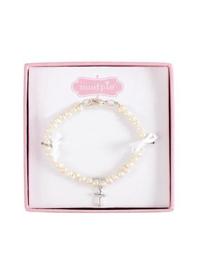 ***Fresh Water Pearl Bracelet with Cross