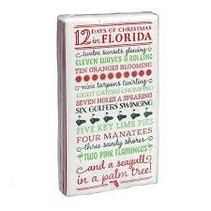 12 Days of Florida Christmas Guest Towel