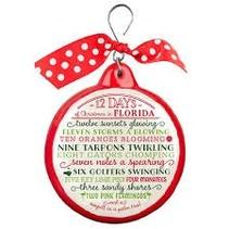 12 Days of Florida Christmas Ornament