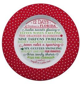 Occasionally Made ***12 Days of Florida Christmas Plate
