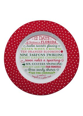 Occasionally Made ***12 Days of Florida Christmas Plate