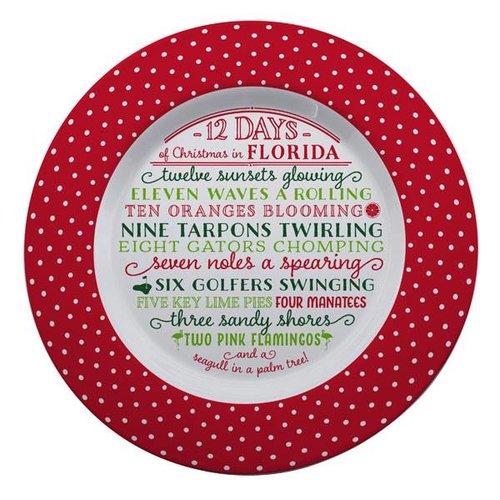Occasionally Made 12 Days of Florida Christmas Plate