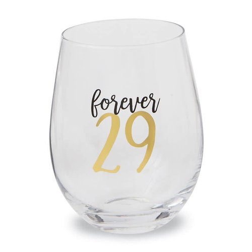 Forever 29 Stemless Wine Glass