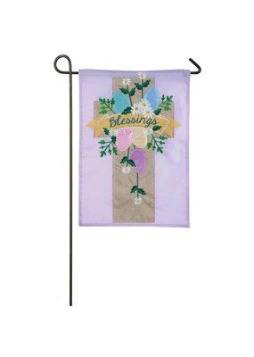 ***Easter Cross Applique Garden Flag