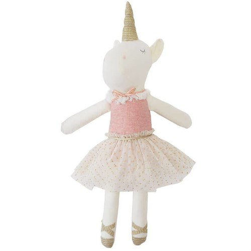 Linen Unicorn Doll