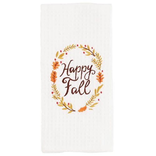 Happy Fall Waffle Weave Towel
