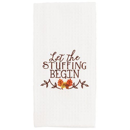 Let the Stuffing Begin Waffle Weave Towel
